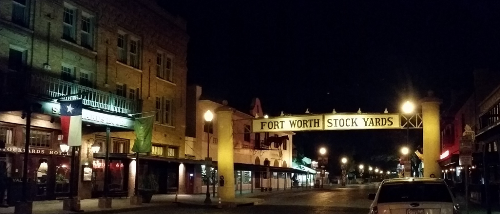 Fort Worth Stockyard at Night